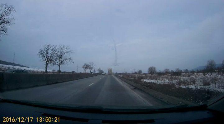 Accident giratoriu Sibiu 17 decembrie 2016