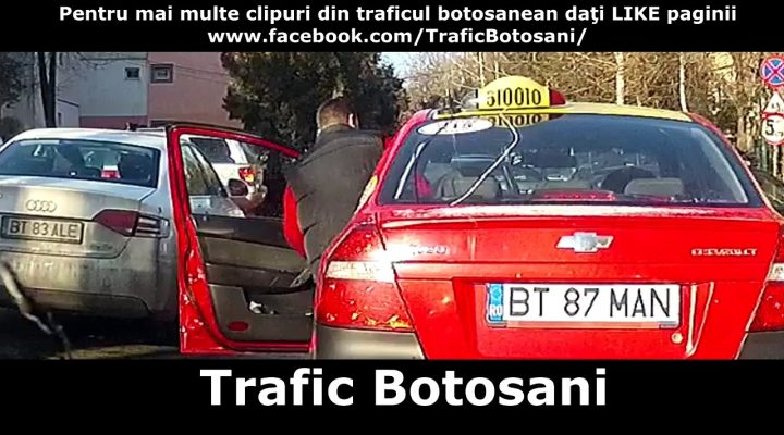 Road rage cu taximetrist