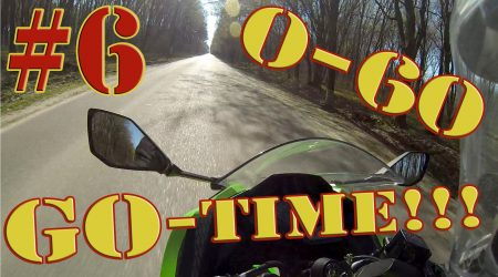 Ninja 300 – First Try 0-60 mph (0-100 kmh) (at 13:10)