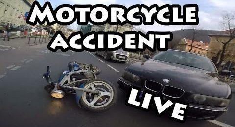 Accident moto live