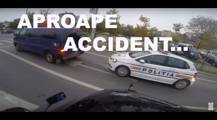 Atat de aproape de un accident…….