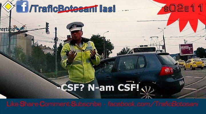 Poliţist depăşit de situaţie