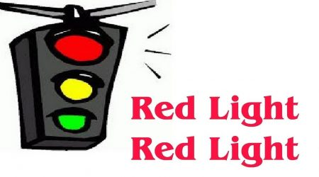 Pe rosu la semafor!