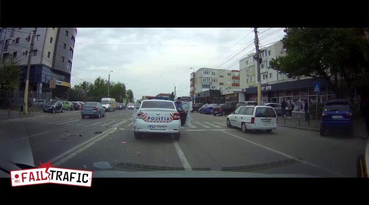 Accident cu politia pe trecere (Constanta)