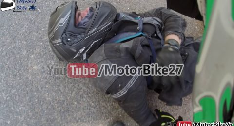 Motorcycle accident live on camera