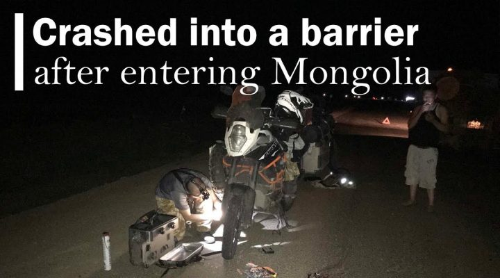 Accident cu motocicleta in Mongolia