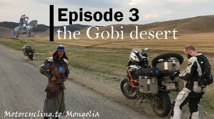 Cu motocicleta in desertul Gobi