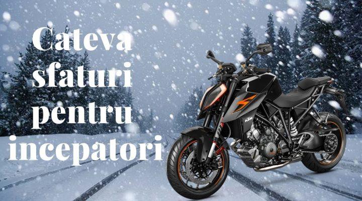 Iarna pe motocicleta, sfaturi pentru incepatori