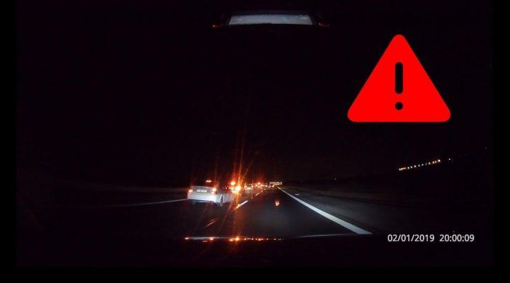 Aproape accident pe autostrada A1 – Trafic România
