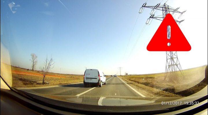 Băut, drogat sau retardat? Depăşire periculoasă – Trafic România
