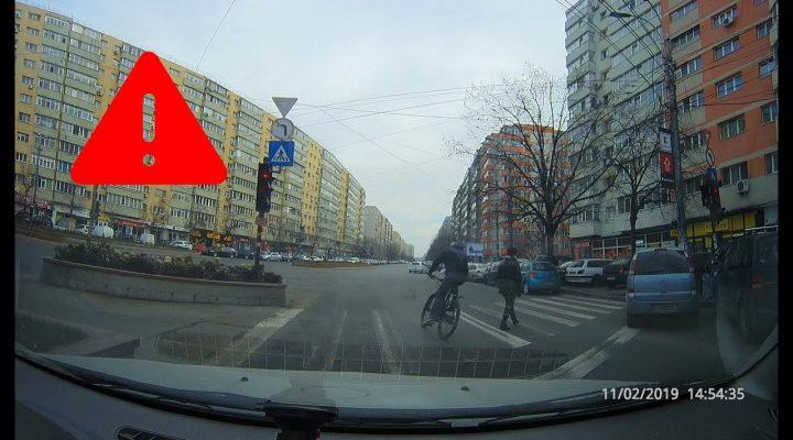 Bicicliştii – Un real pericol pe şosele – Trafic Bucureşti
