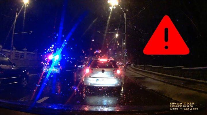 Poliţia rutieră în acţiune – Karma loveşte – Trafic Bucureşti