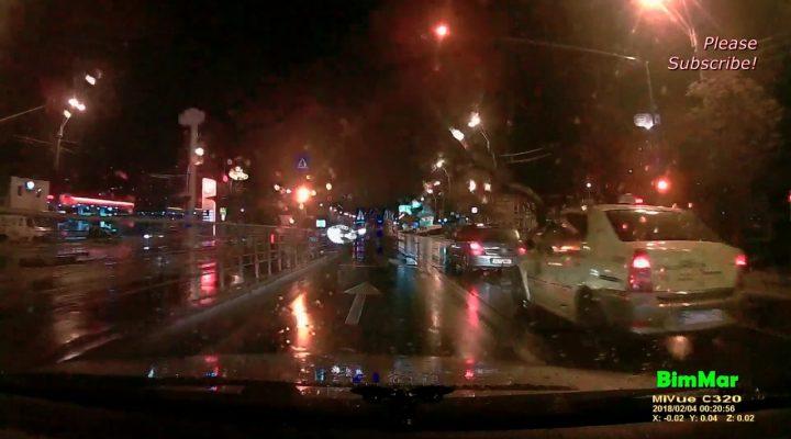 Aproape accident si radarul pe ploaie