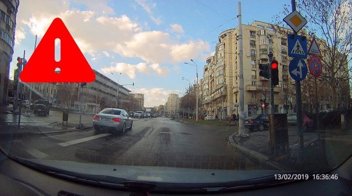 Pericol major în intersecţii – Se trece pe roşu – Trafic Bucureşti