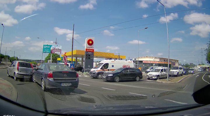 Accident live la iesire din Galati